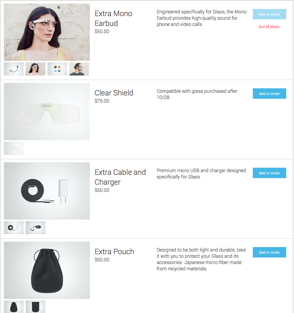 google glass assessories