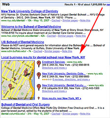 Google local, Google Universal Search Blended Local