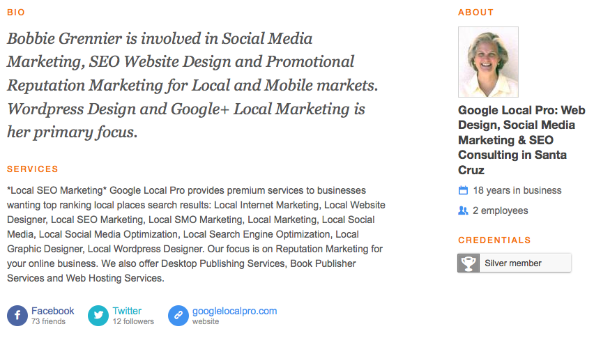 Local Social Media Marketing, Web Design, SEO Consulting